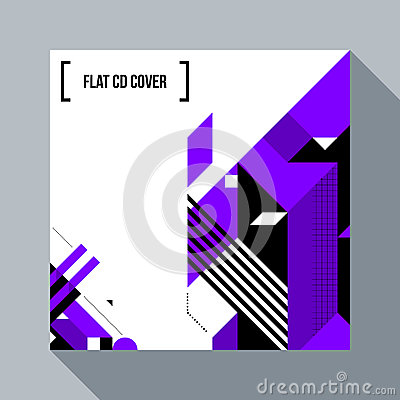 Free Square Futuristic Background/CD Cover With Abstract Element Royalty Free Stock Photo - 87328925