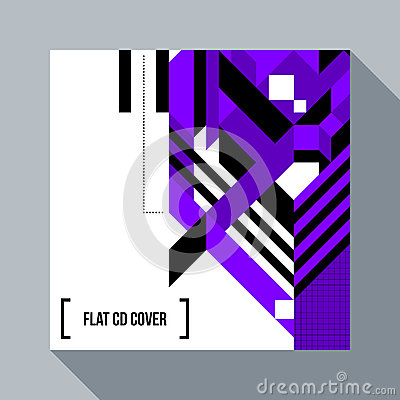 Free Square Futuristic Background/CD Cover With Abstract Element Royalty Free Stock Photos - 87328948
