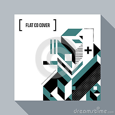 Free Square Futuristic Background/CD Cover With Abstract Element Royalty Free Stock Photography - 87329007