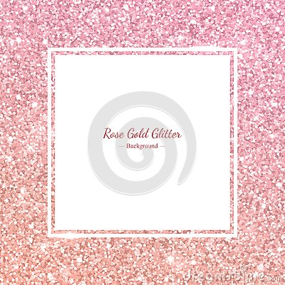 Free Square Glitter Frame With Rose Gold Gradient. Vector Royalty Free Stock Photos - 114044228