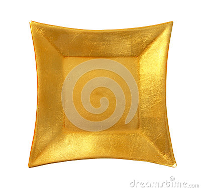 Free Square Gold Plate Royalty Free Stock Photography - 86297287