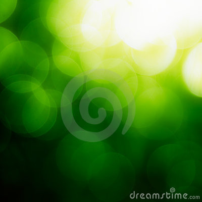 Free Square Green Bokeh Background. Royalty Free Stock Photos - 19269288