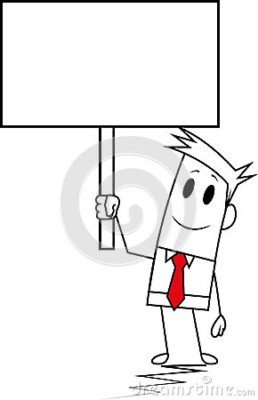 Square guy-Signboard