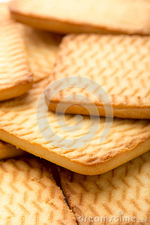 Square homemade cookies