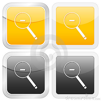 Square icon zoom out