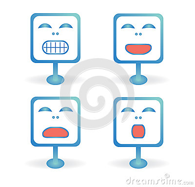 Square icons emoticons