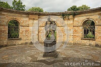Square in Italian garden