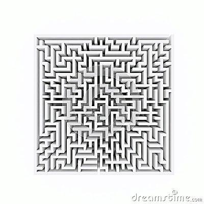 Square labyrinth