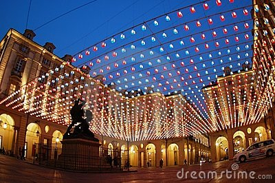 Square lights, Turin