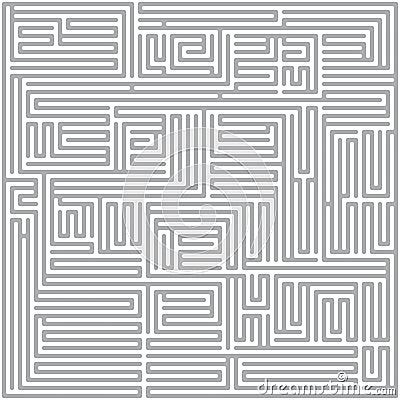 Square maze (Gray)