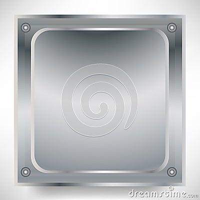 Square metallic sign
