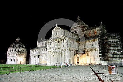 Square of Miracles in Pisa (Italy) at night