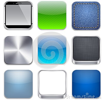 Free Square Modern App Template Icons. Royalty Free Stock Photos - 25132598