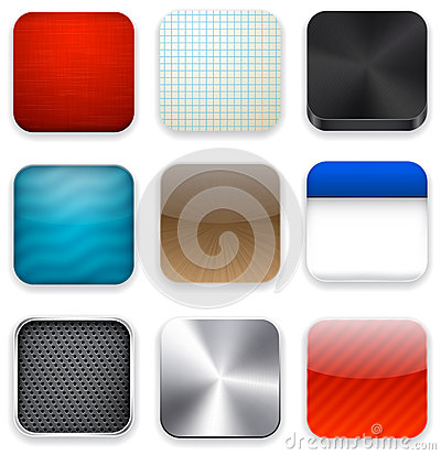 Square modern app template icons.