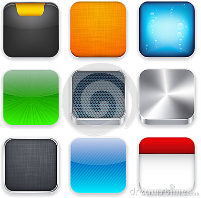 Free Square Modern App Template Icons. Stock Photography - 25833332