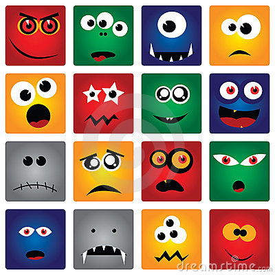 Free Square Monsters Royalty Free Stock Images - 8553719