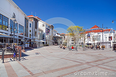 Square of the old town in Sopot, Poland Editorial Photo