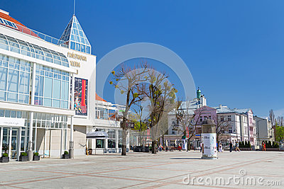 Square of the old town in Sopot, Poland Editorial Image