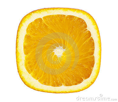 Square Orange Slice