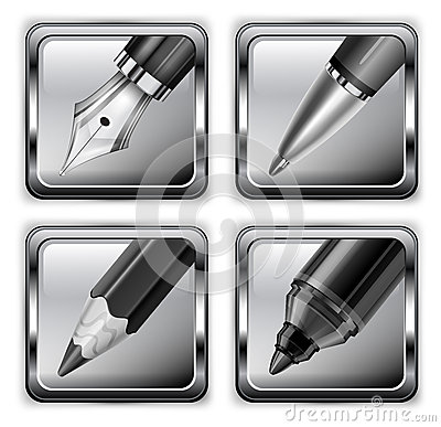Square pen icons