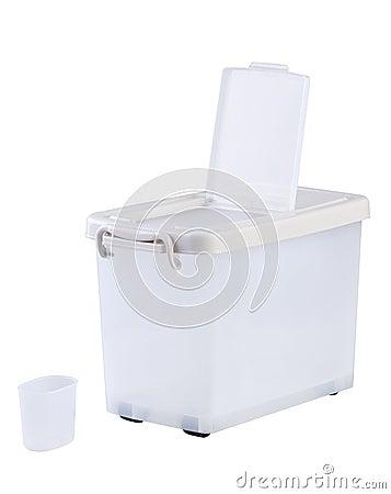Square plastic container box
