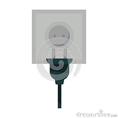 Free Square Power Socket And Black Plug Isolated Illustration Royalty Free Stock Photo - 95672145