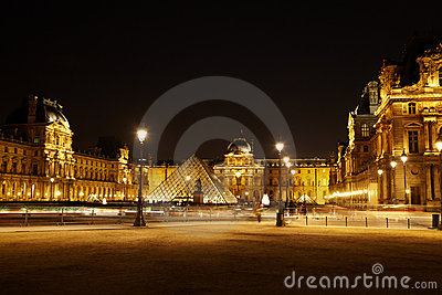 Square with pyramid and equestrian statue Editorial Stock Image