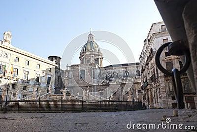 Square shame in Palermo