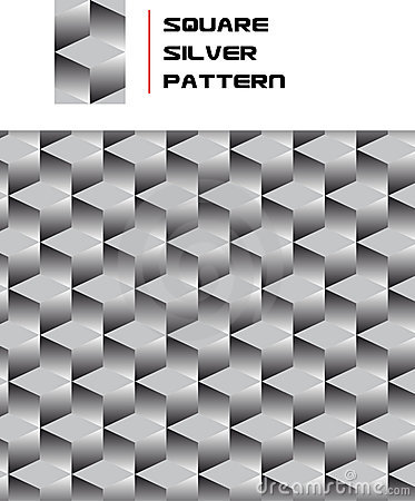 Square Silver Pattern