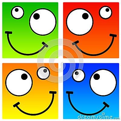 Square smileys