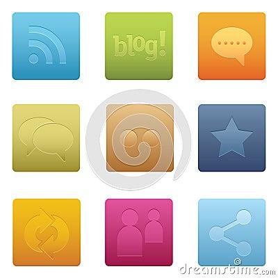 Square Social Media Icons | 01
