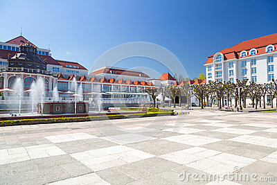 Square in Sopot with beautiful architecture