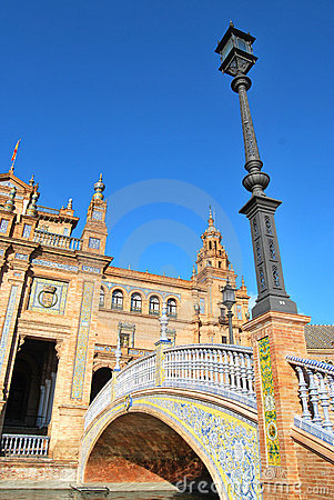 The square of Spain in Seville