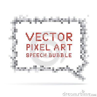Square speech bubble in pixel art style