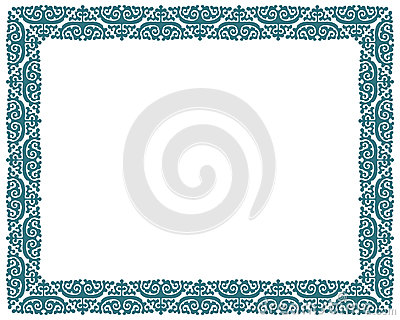 Square vector picture border frame Vector Illustration