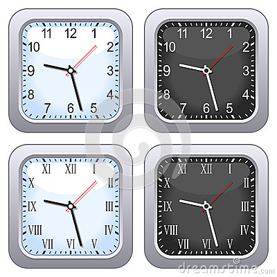 Square Wall Clock Set