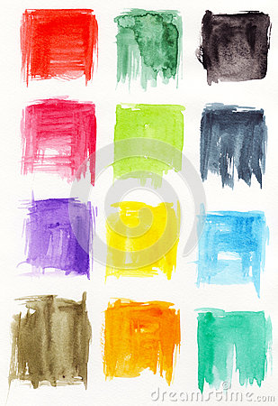Square watercolors