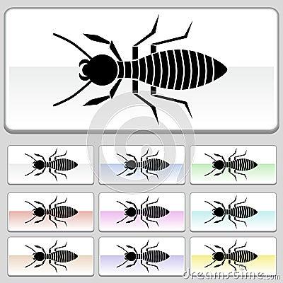 Square web buttons - Termite