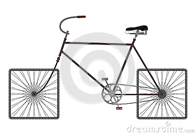 Square wheels bike.