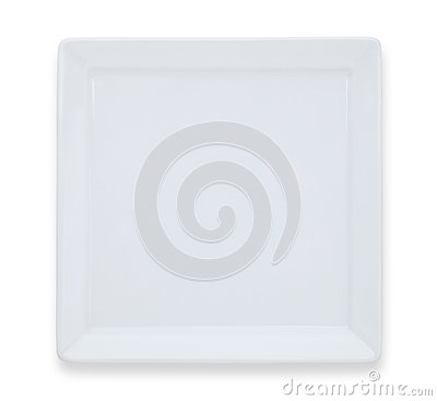 Free Square White Plate Royalty Free Stock Photo - 35231865