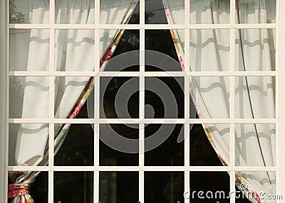 Square white window