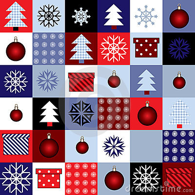 Squared christmas pattern