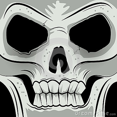 Squared Faced Angry Skull