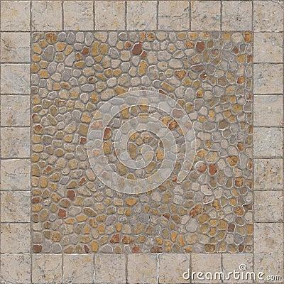 Squared floor ceramic tile with little stones stock image - Suelo exterior antideslizante ...