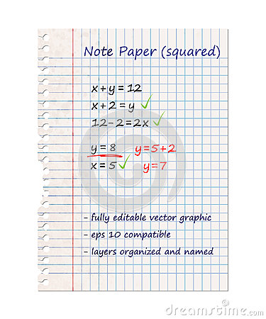Squared Note Paper