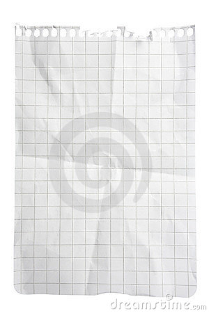 Free Squared Paper Notepad Sheet Royalty Free Stock Photos - 11074848