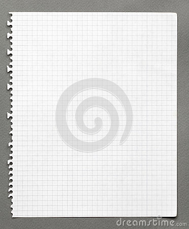 Squared sheet of paper