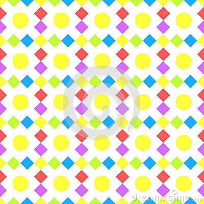 Squares and balls seamless background