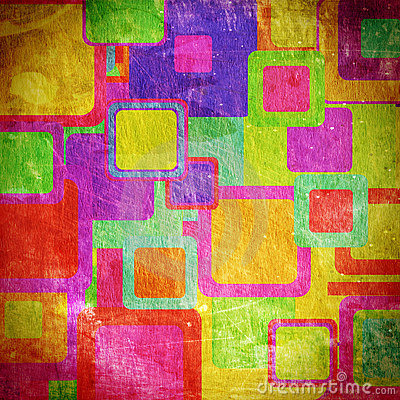 Squares on the grunge