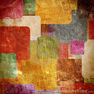 Free Squares On The Grunge Wall Royalty Free Stock Photography - 13412317